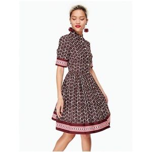 KATE SPADE mini casa floral shirt dress .
